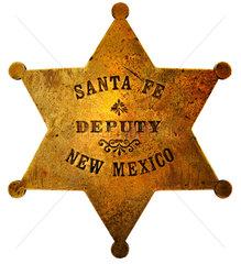 historischer Sheriffstern aus Santa Fe  1910