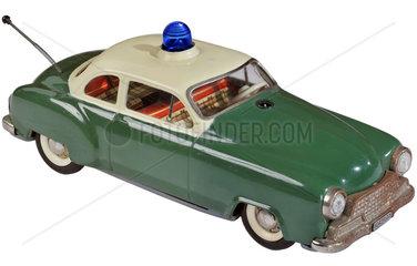 altes Polizeiauto  Spielzeugmodell von Schuco  1963