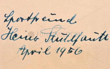 Autogramm Heiner Stuhlfauth  deutscher Nationaltorhueter