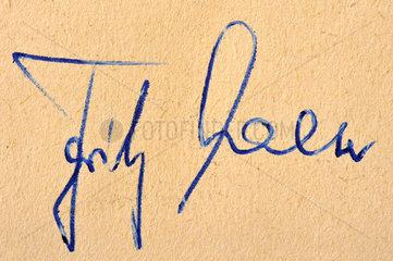 original Autogramm Fritz Walter  1958