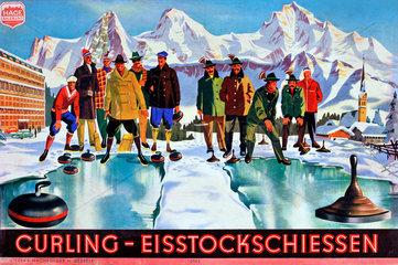 Curling  Eisstockschiesssen  Kinderspiel  1953