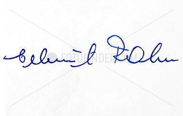 Unterschrift Helmut Rahn  Fussballnationalspieler  1958