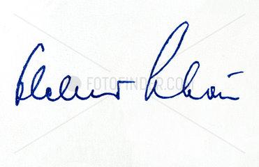 Unterschrift Helmut Schoen  Bundestrainer  1958