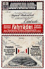Bestellumschlaege fuer Deutschlands ersten Versandhandel  1911