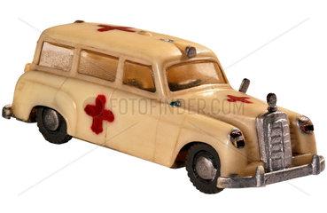 Mercedes Krankenwagen 1953  altes Modellauto Siku 50er