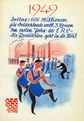 Aufschwung in Deutschland dank amerikanischer Wirtschaftshilfe  1949