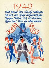 Beginn europaeische Einigung  1948