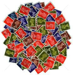 englische Briefmarken  Queen Elizabeth II.  1960er Jahre