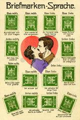 Briefmarken-Sprache  1928