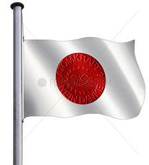 japanische Flagge  Symbolfoto  Atomunfall  GAU
