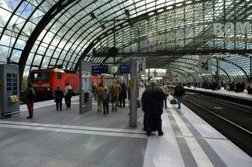 Bauzustand neuer Berliner Hauptbahnhof  ehem. Lehrter Stadtbahnhof