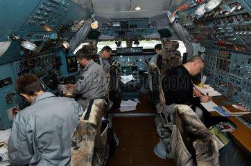 Fluggesellschaft Volga-Dnepr  die Antonov-124 Transportflugzeuge von Leipzig aus fuer die Nato  Bundeswehr und Hilforganisationen betreibt
