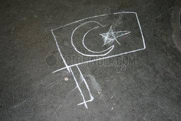Tuerkische Fahne Graffiti