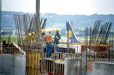 Bauarbeiten am Flughafen Echterdingen in Stuttgart.