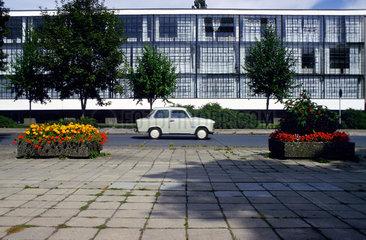 Bauhausgebaude in Dessau.