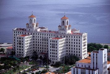 Blick von der 25. Etage des Hotel Habana Libre auf das Hotel Nacional de Cuba.