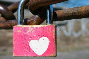 love and padlock at Ponte Milvio