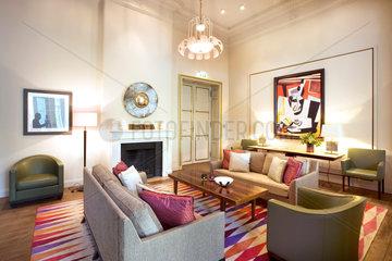 Das Hotel Villa Kennedy in Frankfurt  das zur Gruppe der Rocco Forte Hotels gehoert.