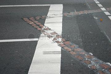 Berliner Mauerweg in die Kochstrasse
