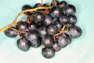Weintrauben in eine Schale