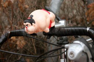 Sumo Kaempfer als Fahrradklingel