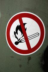 Feuer Verbotsschild