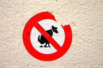 Hundescheiss Verbotsschild