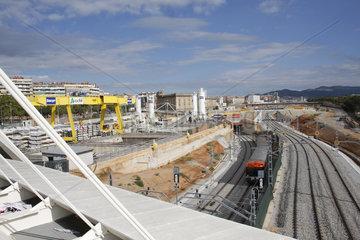 AVE Baustelle in Barcelona