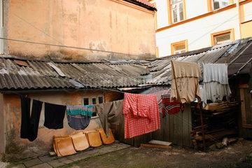 Hinterhof in die Altstadt von Vilnius