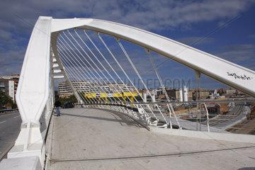 Calatrava Bruecke in Barcelona