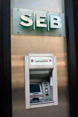 Geldautomat der SEB Bank