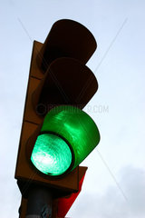 Verkehrsampel Gruenlicht