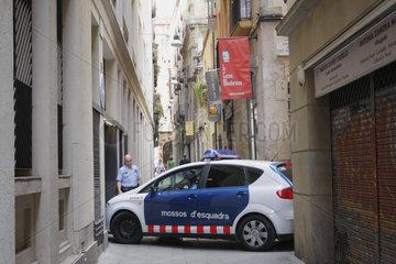 mossos d'esquadra in Barcelona