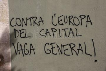 Generalstreik Gegen das Europa des Kapital