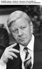 SCHMIDT  Helmut - Portrait des Politikers