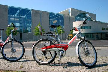 call a bike vor der Bundeskanzleramt