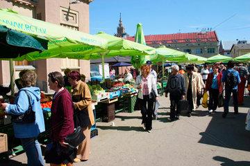 Lettland/Latvia/Riga. Markt von Riga. Market