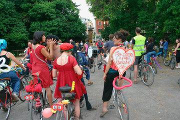 critical mass  bicycles demonstration