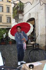 Hagelschauer in Rom