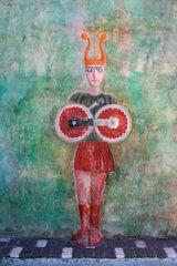 Italy. Sardinien/Sardinia. Wandmalerei in Tinnuri