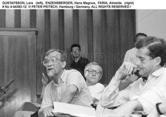 ENZENSBERGER  Hans Magnus mit GUSTAFSSON  Lars und FARIA  Almeida