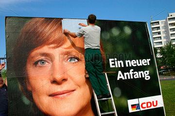 Wahlplakat Angela Merkel