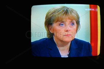 Angela Merkel am Wahlabend