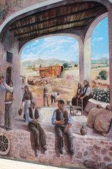 Italy. Sardinien  Wandmalerei in Tinnuri
