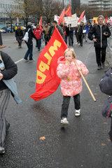 Berlin - Demonstration gegen HARTZ IV