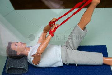 Ken beim stretching