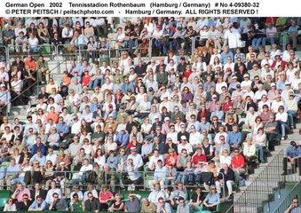 Zuschauer auf der Tennisanlage Rothenbaum