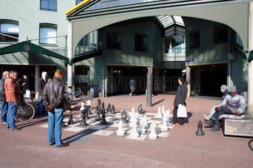 Schachspieler in Amsterdam.