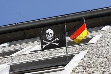 Piratenfahne oder Deutschefahne