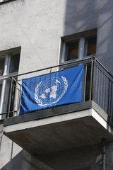 UNO Flagge in Berlin